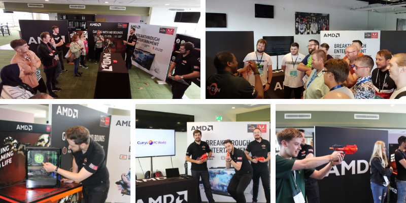 Ryzen to the nerf gun challenge at Dixons My Learning Live 2019